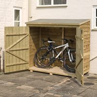 ROWLINSON OVERLAP GARDEN WALLSTORE 6ft x 3ft in Natural Timber