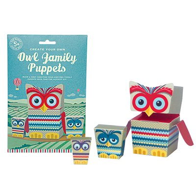 OWL FAMILY PUPPETS Activity Set