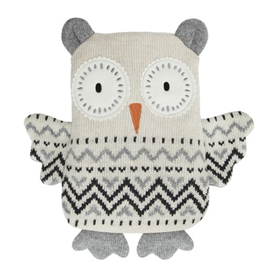 AROMA HOME OWL KNITTED HOTTIE