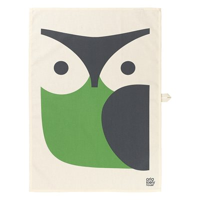 ORLA KIELY SET OF 2 TEA TOWELS in Owl Print