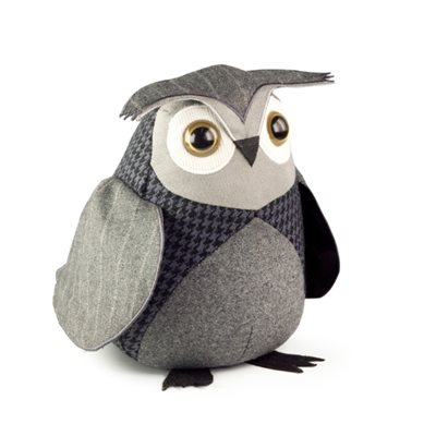 LITTLE OWL Bird Animal Doorstop by Dora Designs