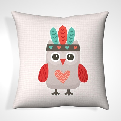 CUSHION in Tribal Owl Design