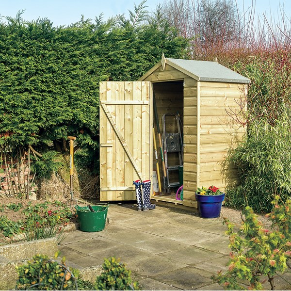 Oxford 4 x 3 Garden Shed in Natural Timber