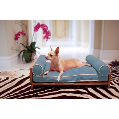 DOG DAY BED in Blue by Pet Lounge Studios
