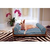 Dog BED Bamboo Dog and Cat Daybed in Blue