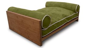 DOG DAY BED in Green by Pet Lounge Studios