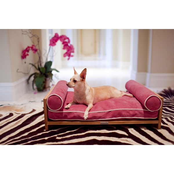 Pink Dog Bed Raised.