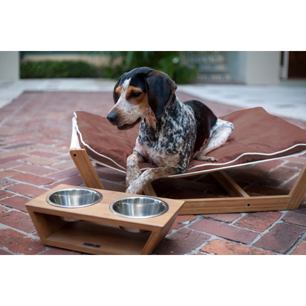 LARGE PET HAMMOCK with Chestnut Brown Cushion