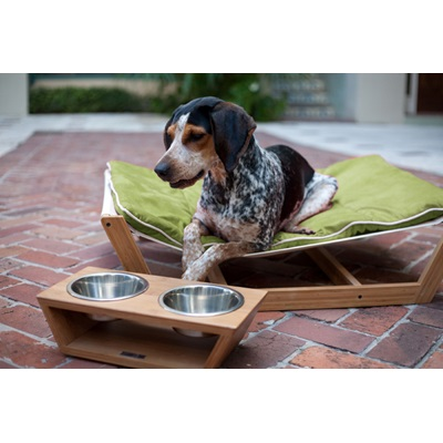 LARGE DOG HAMMOCK in Green by Pet Lounge Studios
