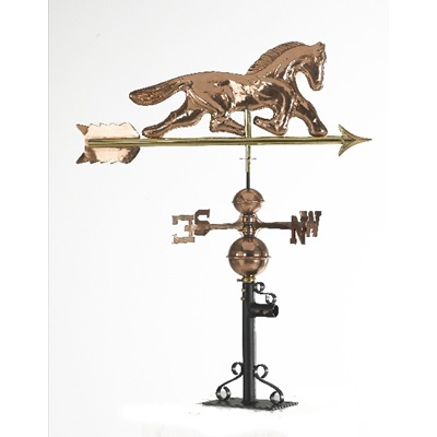POLISHED COPPER HORSE MOTIF 3D WEATHERVANE
