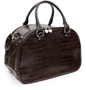 PUPPY ANGEL Cosmopolitan Luxury Pet Carrier Brown