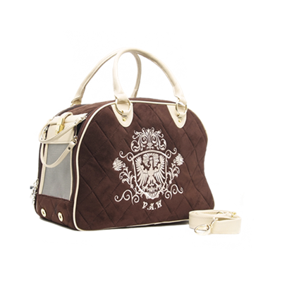PUPPY ANGEL Royal Paw Pet Carrier Brown