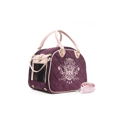 PUPPY ANGEL Royal Paw Pet Carrier Purple