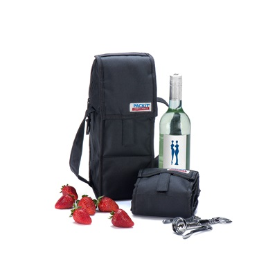PACKIT FREEZABLE WINE CHILLER BAG in Black