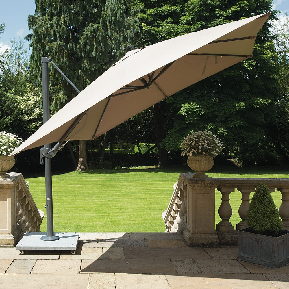 palermo cantilever parasol in taupe norfolk leisure. Black Bedroom Furniture Sets. Home Design Ideas