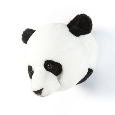 KIDS PANDA BEAR PLUSH ANIMAL HEAD WALL DECOR