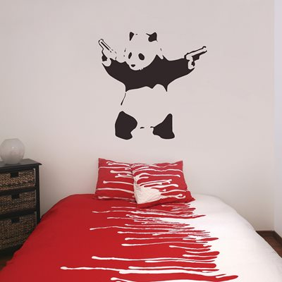 BANKSY WALL STICKER in Graffiti Panda Design