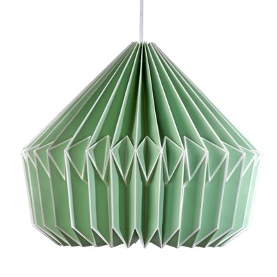 CASPIAN PAPER LAMP SHADE in Swedish Green