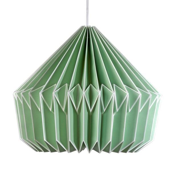 Caspian Paper Lamp Shade in Swedish Green