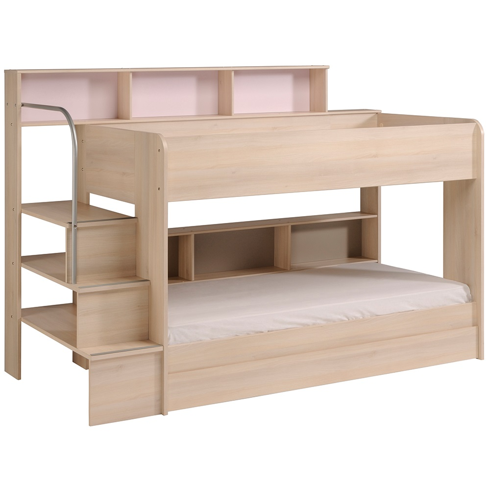 Parisot Kurt Bibop Girls Bunk Bed In Acacia Kids Beds