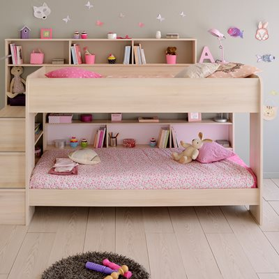 PARISOT BIBOP KIDS ACACIA BUNK BED in Acacia with Reversible Panels