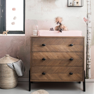 HARPER CHEST OF DRAWERS in Herringbone Design