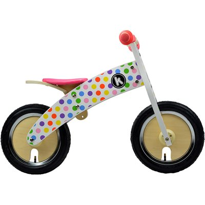 KURVE BALANCE BIKE in Pastel Dotty Design by Kiddimoto