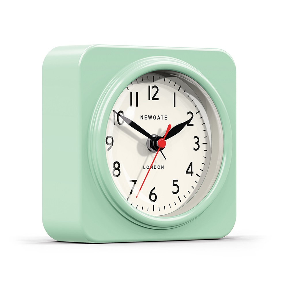 The Biscuit Alarm Clock In Green Wall Clocks Cuckooland
