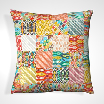 CUSHION in Patchwork Design