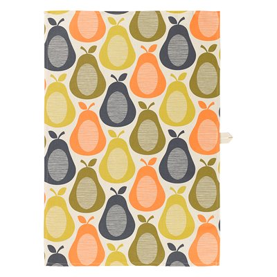 ORLA KIELY SINGLE LINEN MIX TEA TOWEL in Pear Print