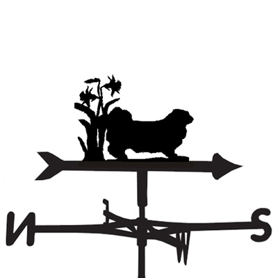 WEATHERVANE in Pekingese Dog Design