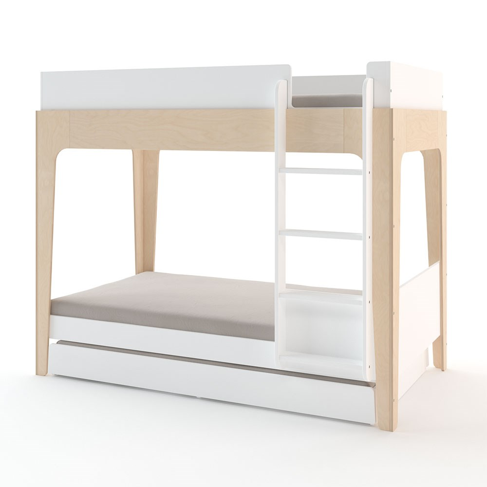 Oeuf Kids Perch Bunk Bed In White Birch Oeuf Nyc Cuckooland