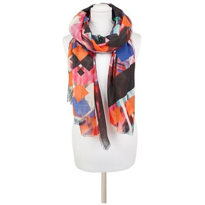 PERONI Geometric Scarf in Multi-Colour