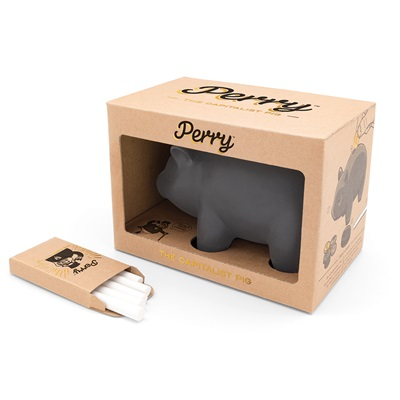 Black Board Piggy Bank with Chalk