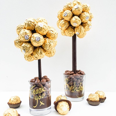 PERSONALISED FERRERO ROCHER CHOCOLATE SWEET TREE