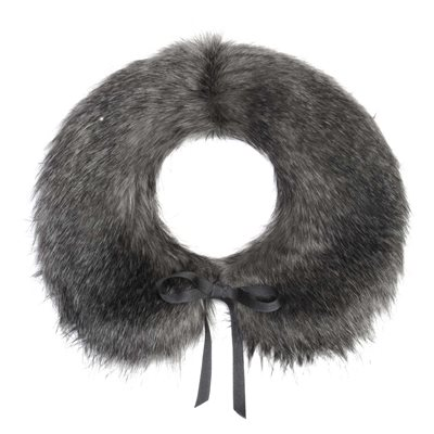 PETER PAN FAUX FUR COLLAR in Earl Grey