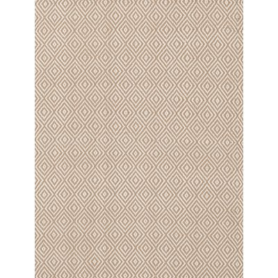 INDOOR OUTDOOR PETIT DIAMOND RUG in Khaki and Ivory