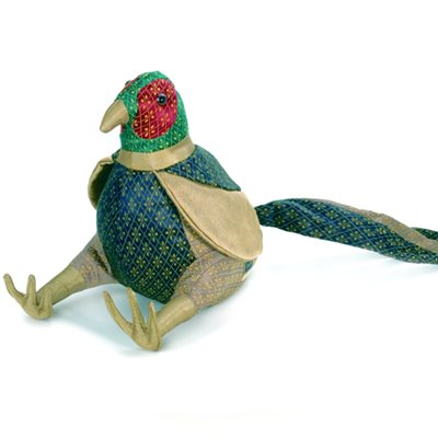 REUBEN PHEASANT ANIMAL DOORSTOP