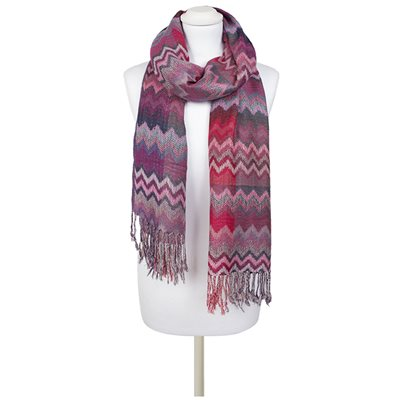 PHILLIPA Zig Zag Scarf in Pink