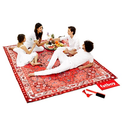 FATBOY PICNIC LOUNGE LUXURY OUTDOOR RUG in Red