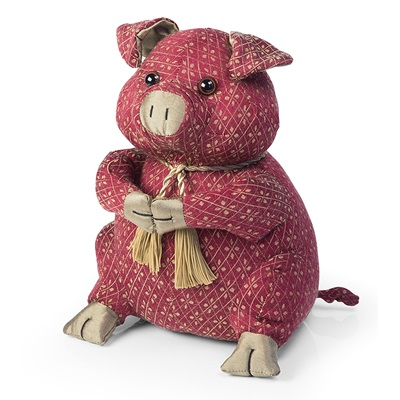 HYDE THE PIG Animal Doorstop