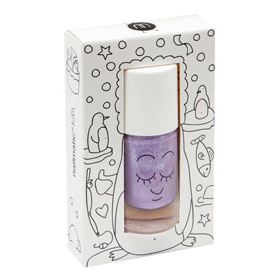 NAILMATIC KIDS WASH OFF NAIL POLISH in Piglou Purple Glitter