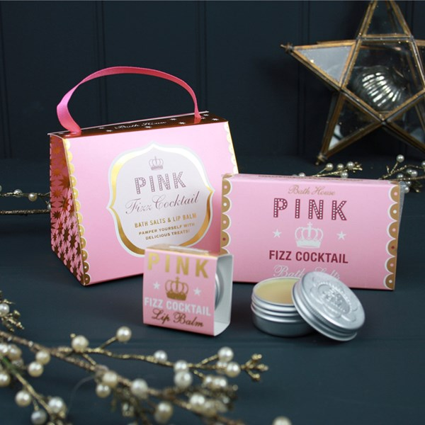 Bath House Pink Fizz Handbag Treat