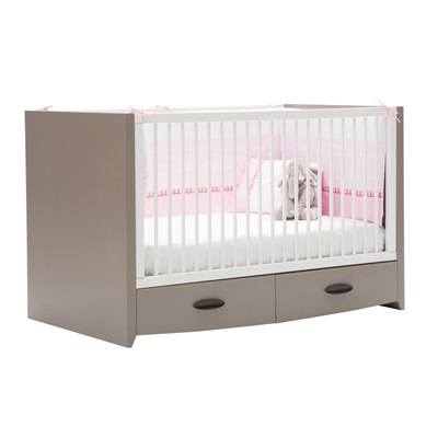 MINI COT BED in Pink Birdy Design