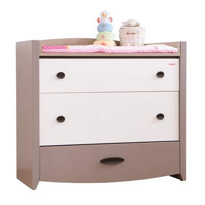 KIDS DRESSER AND CHEST OF DRAWERS in Pink Birdy Design