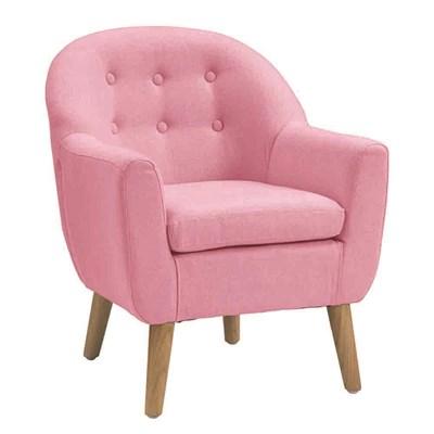 Genial ... Pink Button Kids Armchair