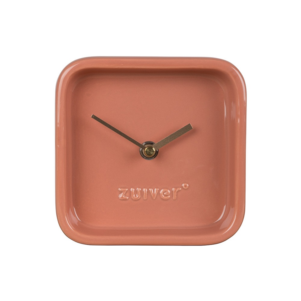 Pink Cute Clock With Gold Hands Jpg