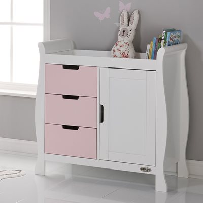 Obaby Stamford Dresser & Baby Changing Unit in Eton Mess & White