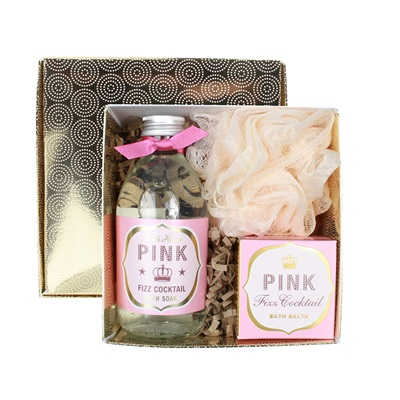 BATH HOUSE PINK FIZZ BATHE GIFT BOX