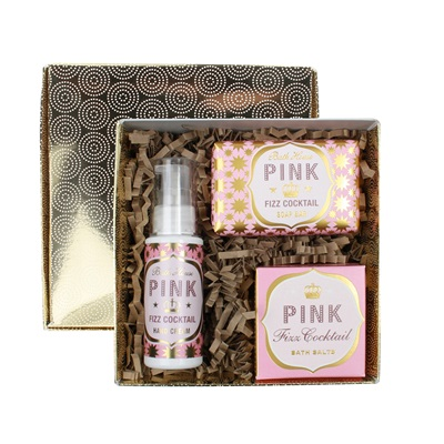 BATH HOUSE PINK FIZZ PAMPER GIFT BOX